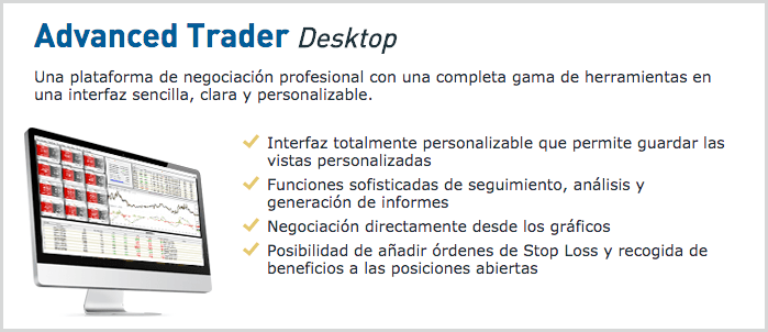 aplicación advanced trader desktop
