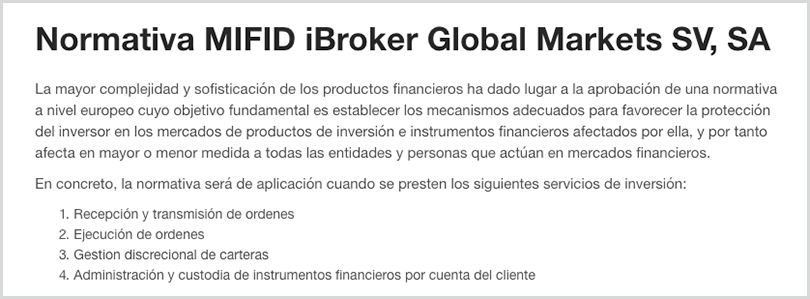 ibroker está 100% regulado