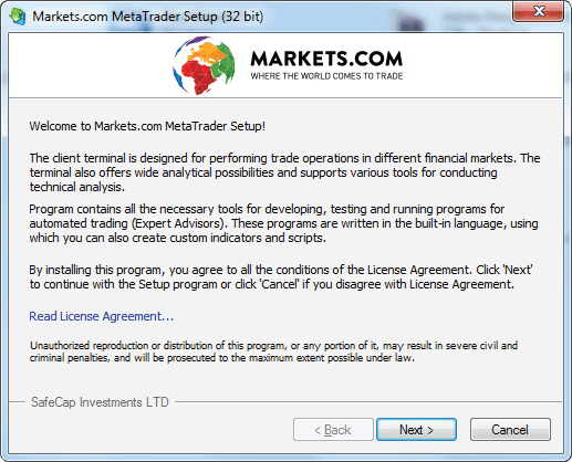 instalación del software metatrader 4