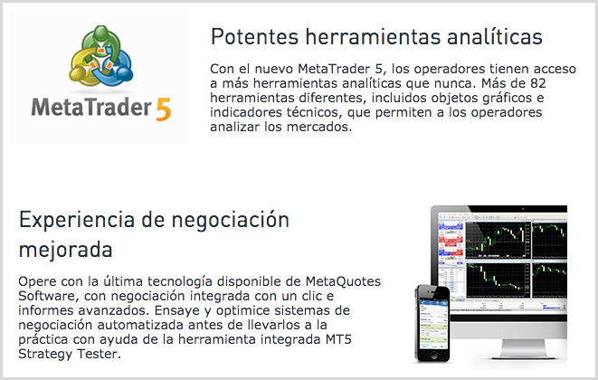software de inversiones metatrader5 - Swissquote