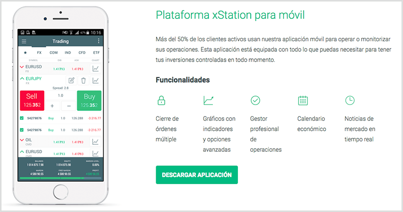 Trading Station para iOS y Android