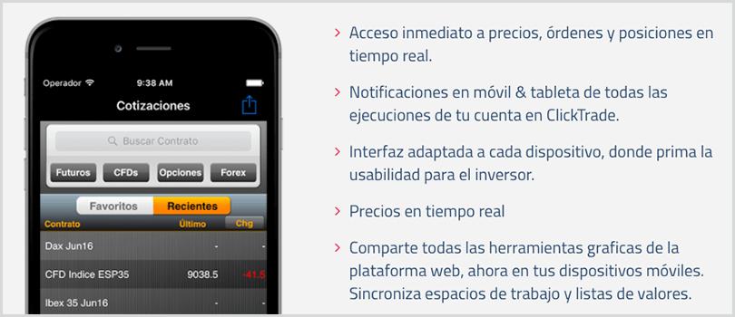 aplicaciones móviles en clicktrade