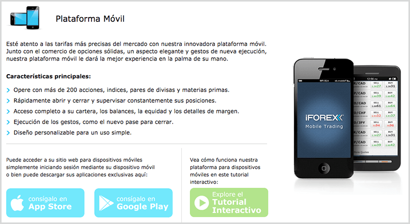 aplicaciones para android e iOS - iForex