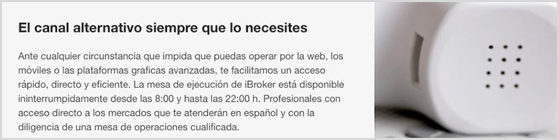 operaciones bursátiles telefónicos gracias a ibroker