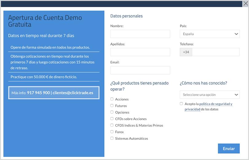 cuenta demo gratuita