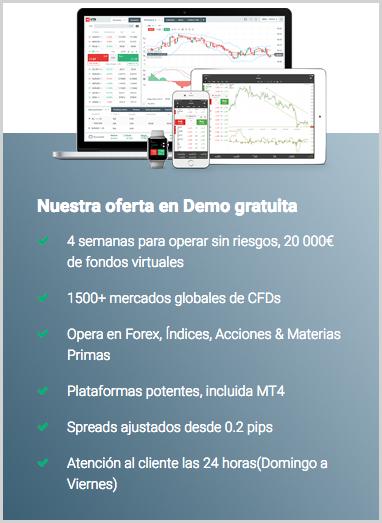 abrir una cuenta demo en el broker xtb