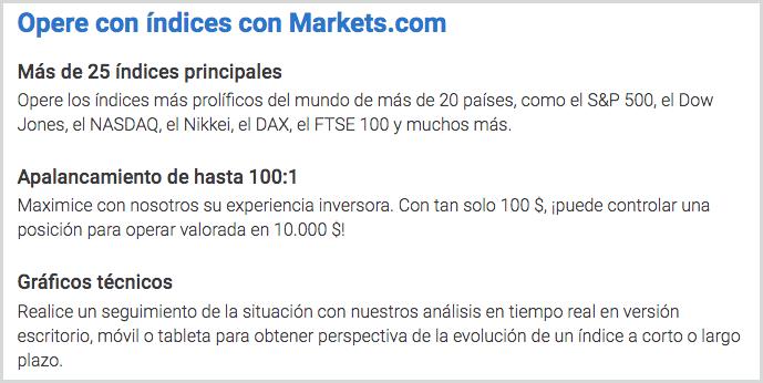 invertir en índices en markets.com