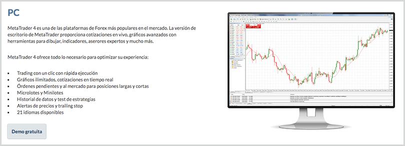 aplicación de escritorio metatrader4