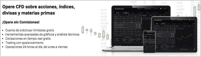 operaciones disponibles en markets