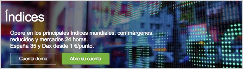 operar con índices en IG Markets