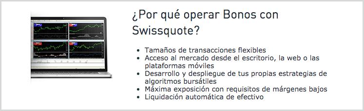 operaciones en swissquote con bonos y materias primas