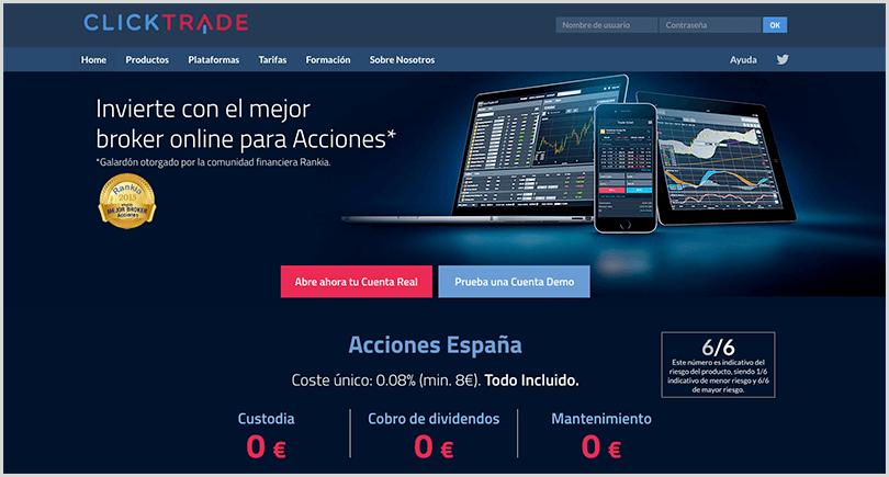 plataforma de forex clicktrade