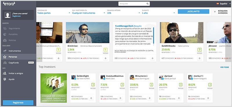 plataforma de social trading - eToro