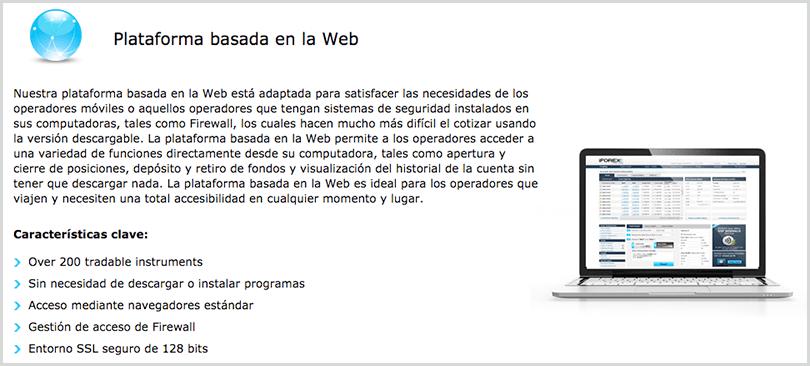 plataforma de trading basada en la web