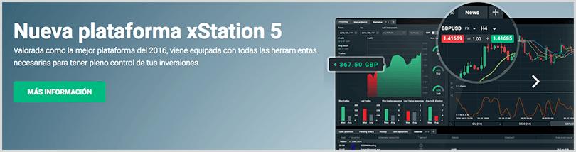 nueva plataforma de inversión xStation5 - XTB