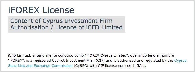 regulación del broker de forex iforex