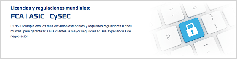 regulación del broker Plus500
