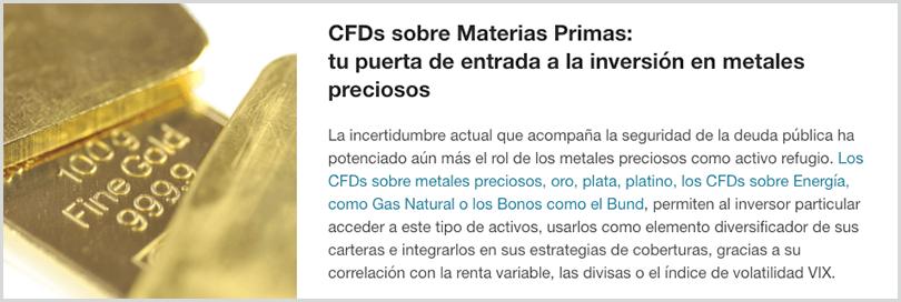 inversiones en materias primas mediante cfd's - iBroker