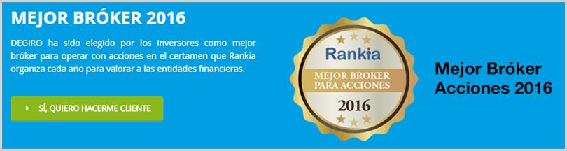 premio de Bankia al mejor broker
