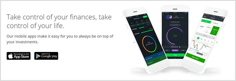 app de Invest para ios y android