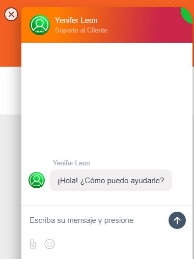 chat en vivo del soporte